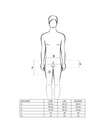 Boxer avec cache sexe effet mouillé 003 - S-M