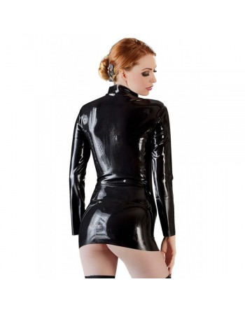 Tee Shirt en Latex avec Zip - M