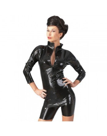 Tee Shirt en Latex avec Zip - S