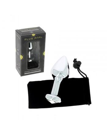 Plug anal argenté en aluminium Ø 3,8 cm - 126 grammes