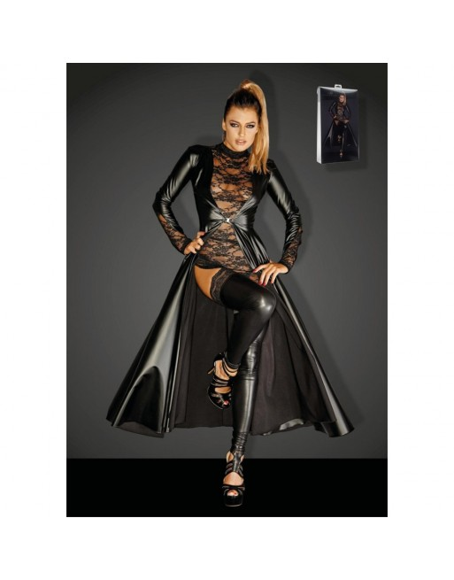 Long Manteau Powerwetlook Divalicious F128C - L