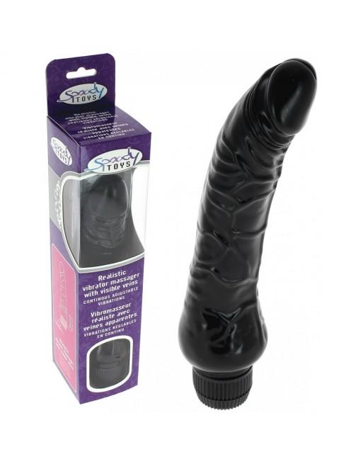 Vibromasseur Black Multi Speed réaliste - 23 cm