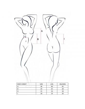 Corsage et String Roxy blanc - XXL-XXXL