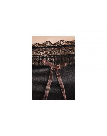 Nuisette et String Evane noir - L-XL