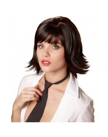 Perruque cheveux noir