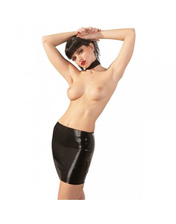 Mini Jupe en Latex Noir - S