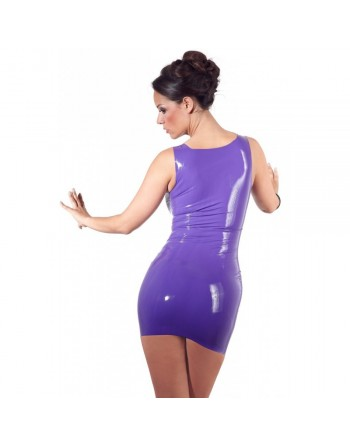 Robe en Latex Mauve - M