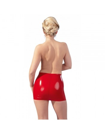 Mini Jupe en Latex Rouge - M
