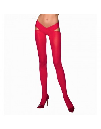 Collant Ouvert Rouge TI005 - T 1/2