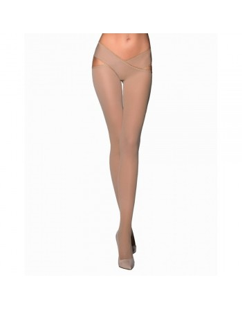 Collant Ouvert Beige TI005 - T 1/2