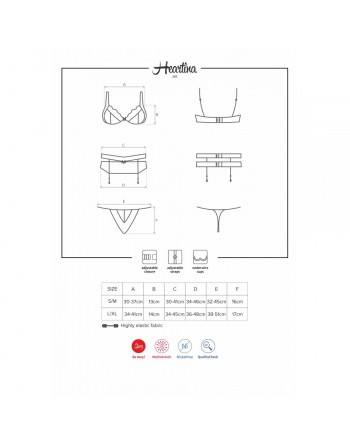 Ensemble Heartina Set Rouge - S-M