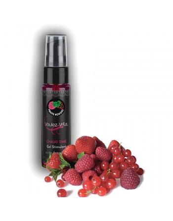 Lubrifiant Chauffant Stimulant Saveur Fruits Rouges - 35 ml