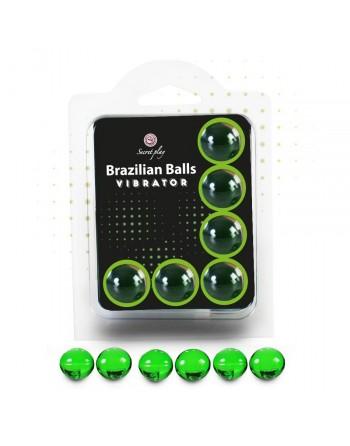 Boules Brésiliennes Vibrator Nature X6