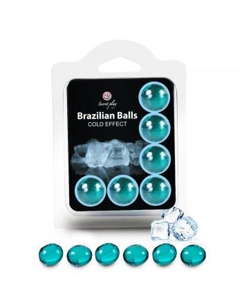 Boules Brésiliennes Effet Glacé X6