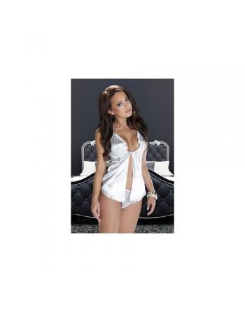 Nuisette et culotte blanche Arya XXL-XXXL