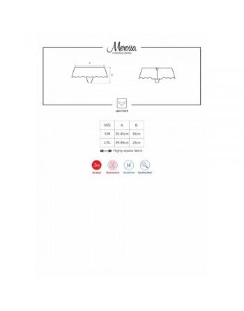 Tanga noir ouvert Merossa - L-XL