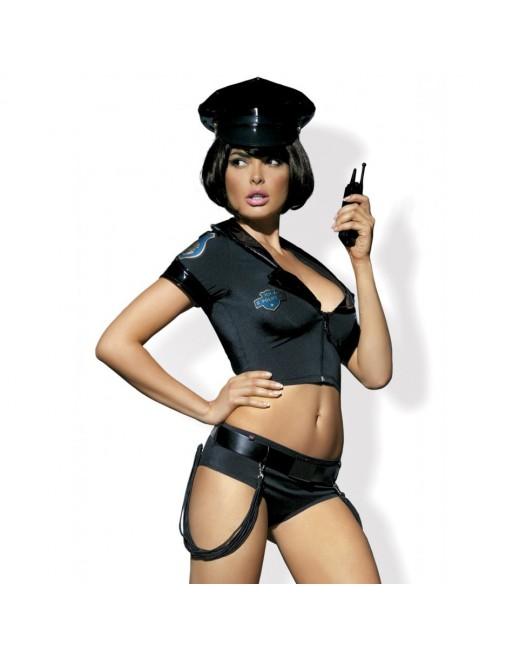 Tenue sexy noire police - S-M