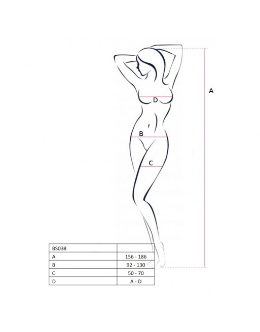 Corsage et String Justina - XXL-XXXL