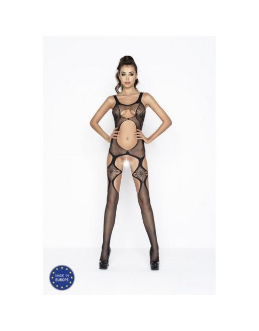 Corsage et String Sandra Rouge/Noir - S-M