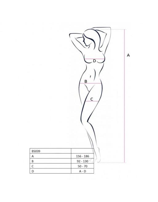 Corsage et String Sandra Rouge/Noir - L-XL