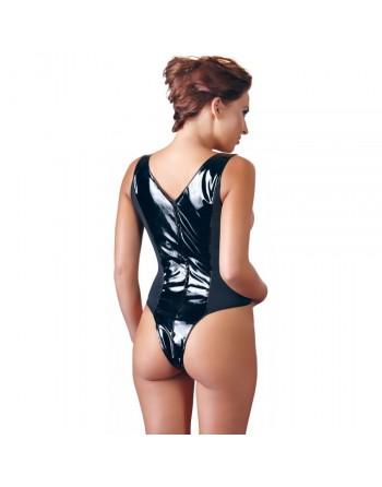 Body Noir Ouvert en Vinyle - XL