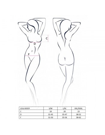 Body Leila Noir - XXL-XXXL