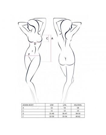 Body Adara Noir - XXL-XXXL