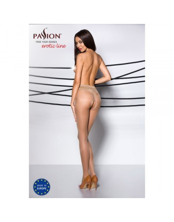 Collant Ouvert Beige TI001 - T 3/4