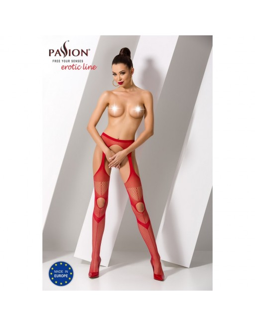 Collant Rouge Sexy S009 - TU