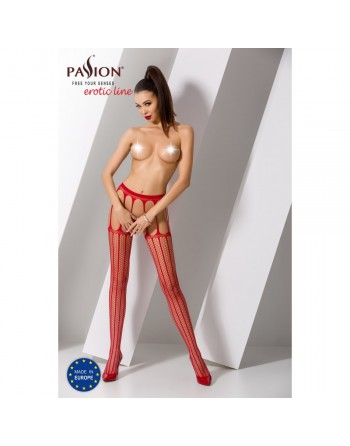 Collant Rouge Sexy S004 - TU