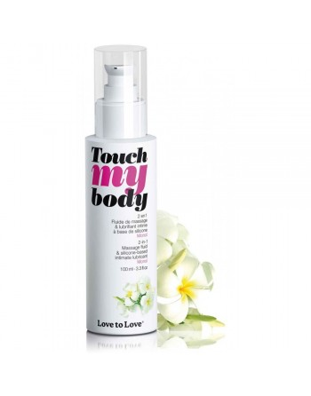 Massage  Lubrifiant Touch My Body Monoï - 100 ml