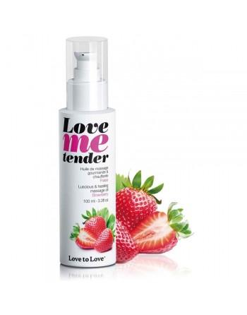 Huile de massage Love Me Tender saveur Fraise - 100 ml