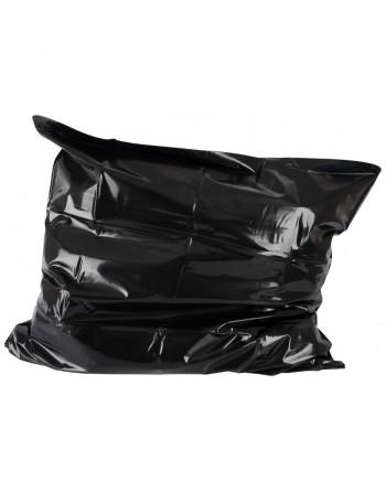Housse noir d'oreiller en vinyle