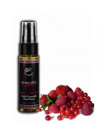 Huile de la Tentation Saveur Fruits rouge - 35 ml