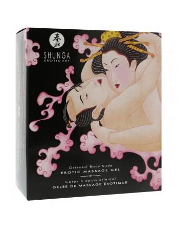 Gelee et drap de massage erotique Fraise Vin Petillant