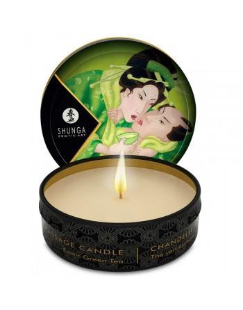 Bougie de massage Lueur et Caresse Thé Vert Exotique - 30 ml