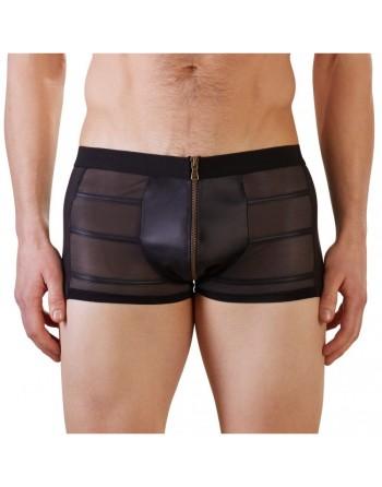 Short Noir Avec Zip Frontal - M