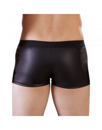 Short Noir Avec Zip Frontal - S