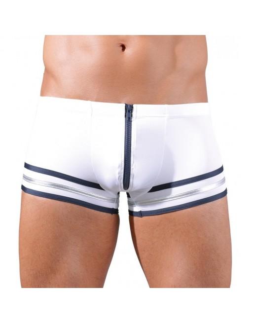 Boxer Marin Blanc Avec Fermeture Éclair - XL